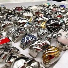 MixMax 20 pcs Top Fashion Titanium staal casting ring persoonlijkheid roestvrij stalen ringen voor Mannen Vrouwen Sieraden