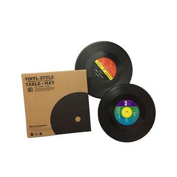 Record Coaster Table Cup Place Mats Creative Plastic Vinyl Heat-resistant 2 / 4 / 6 Pieces 2
