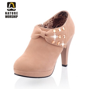 Nubuck Leather women boots fas