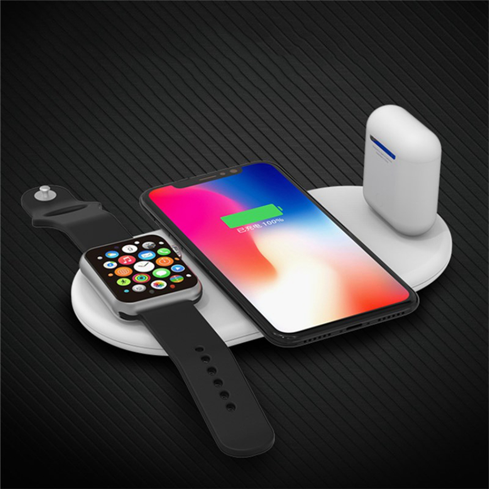 3 in 1 7.5W QI Fast Wireless Charger for iphone for AirPods & Apple Watch Replacement Qi Wireless Fast Charger Portable charger
