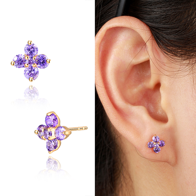 product screwback childrens butterfly massete gold stud earrings