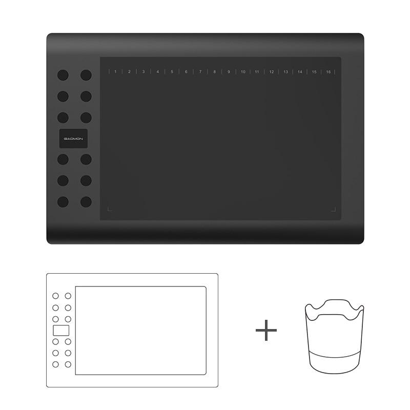 Фотография GAOMON M106K 12Express Keys Pen Tablet Digital Drawing Board with Pen Holder