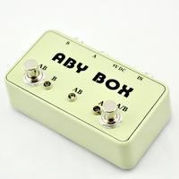 NEW Arrive Guitar ABY Switcher Effect Stomp Pedal Box For Electric Guitar True Bypass