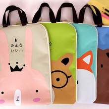 Cute Cartoon Zipper File Bag Document Holder Folder Storage Fabric Pouch Package A4 Paper Portable Pocket Bill Pouch File Folder недорого