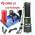 Lanterna cree xm-l2 luz tático 18650 ou 26650 da bateria ao ar livre poderoso led lanterna recarregável
