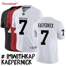 be33cfd79f188 Salto Jersey hombre Jersey de IMWITHKAP Camisetas fútbol americano  KAEPERNICK Jersey tamaño S-XXXL blanco negro rojo envío grati.
