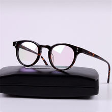 ff08c19059 Cubojue Acetate Glasses Men Women Eyeglasses Frames Man Black Tortoise  Transparent Prescription Myopia Points Round Brand Male