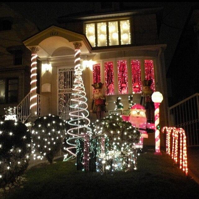 110v 240v led rope christmas lights 7m 50 ledsyellowwhitepinkcolorful