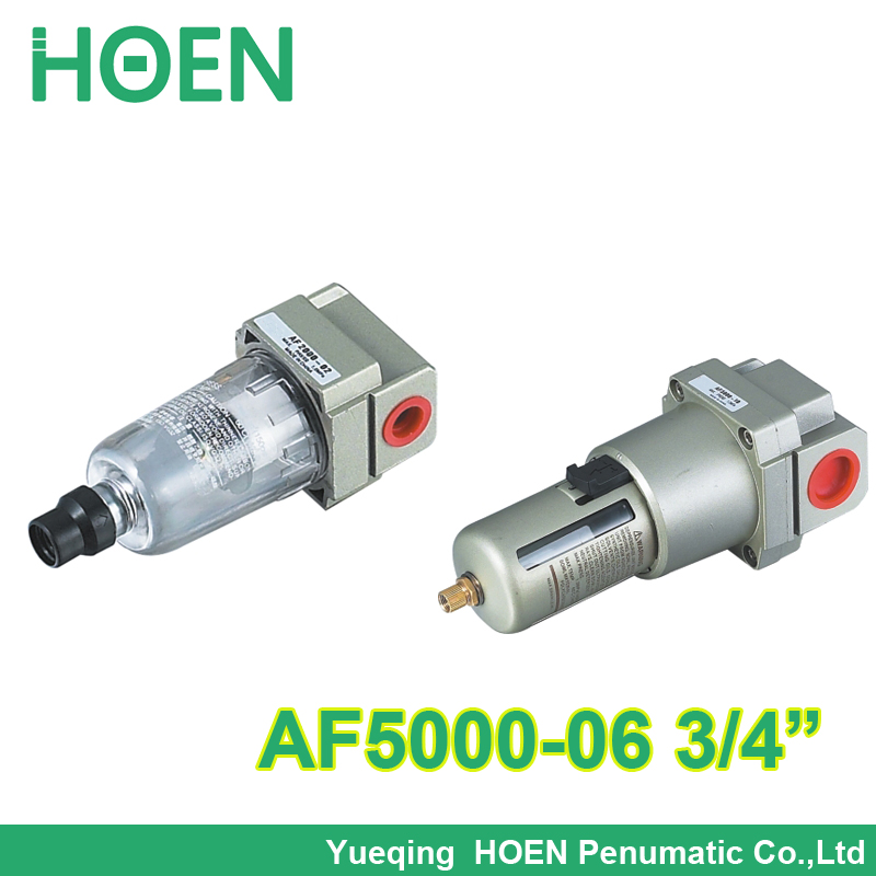 Air gas oil water filter pneumatic AF5000-06 D 3/4 inch with Copper cartridge and Protective cover Manual drain SMC type