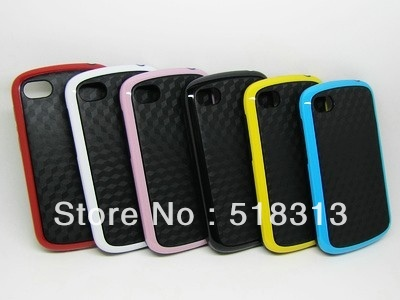 TPU Soft Silicone Case For Black Berry Q10 3D Water Cube Square Dual color Design