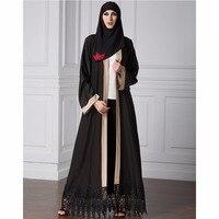 Islamique Abaya Robe Musulman Femmes Robe À Manches Longues Abaya Vêtements Robe Kaftan Moyen-Orient Stiching Style