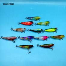 TSURINOYA 6pcs/lot pencil fishing lure 4.5g/5cm 12colors 3D Eyes  Artificial bait hard