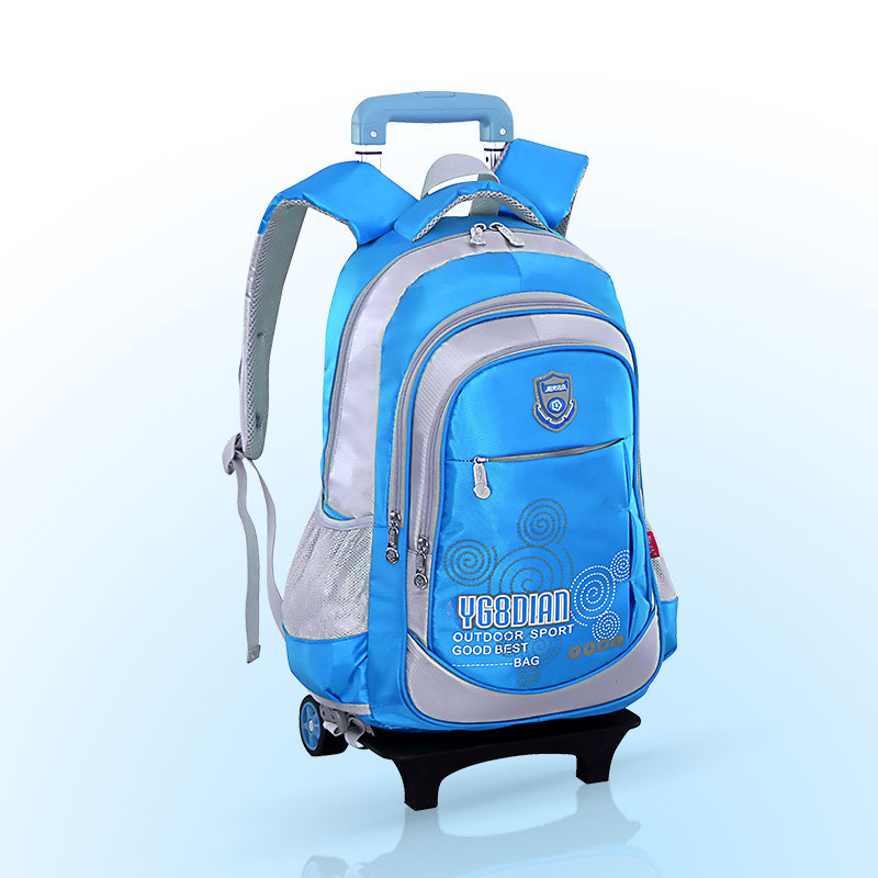 Высокое качество водонепроницаемый мальчиков школьная сумка тележка рюкзак Съемный Детская большая емкость Чемодан книга Сумки Mochila Infantil