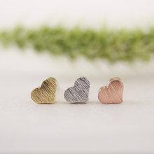 Little love stud heart rose earrings gold silver jewelry fashion new
