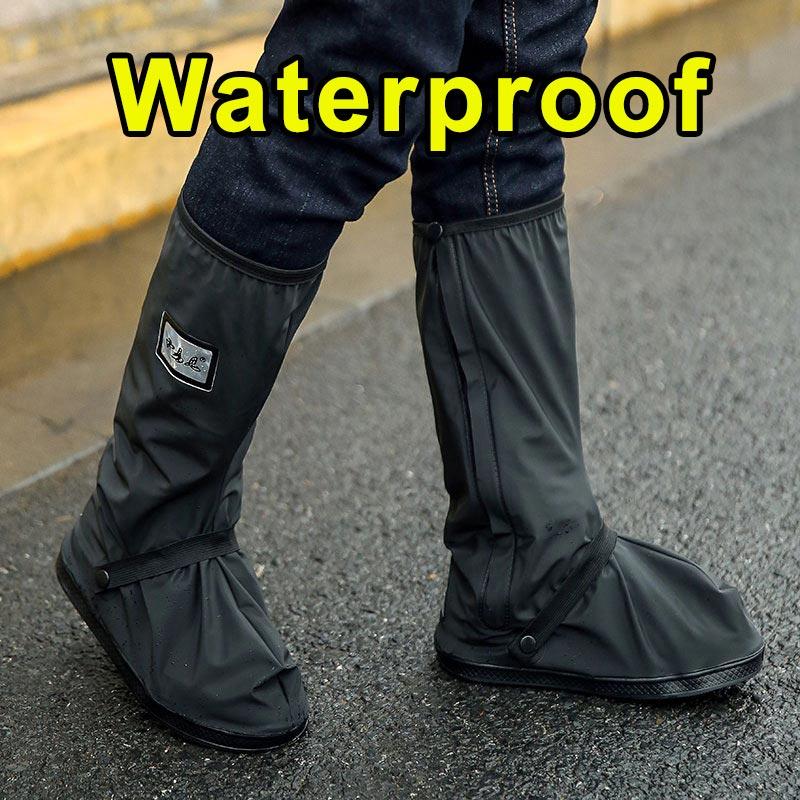 Ciclismo sapato capa 100% à prova de chuva à prova drainágua overshoes bicicleta das mulheres dos homens capas de sapato de chuva caminhadas mtb bicicleta esporte sapatos protetor|  - title=