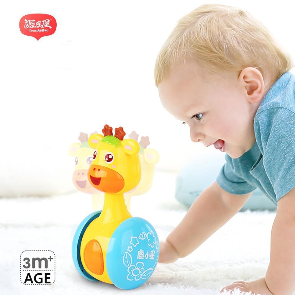 Yuanlebao Ընձուղտ Baby Tumbler Cute Rattles Ring Bell Doll - Խաղալիքներ նորածինների համար - Լուսանկար 1