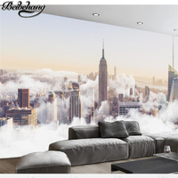 Beibehang Custom Large Fresco 3d Photo Wallpapers HD Abstract City Sea Of Clouds Scenery Living Room