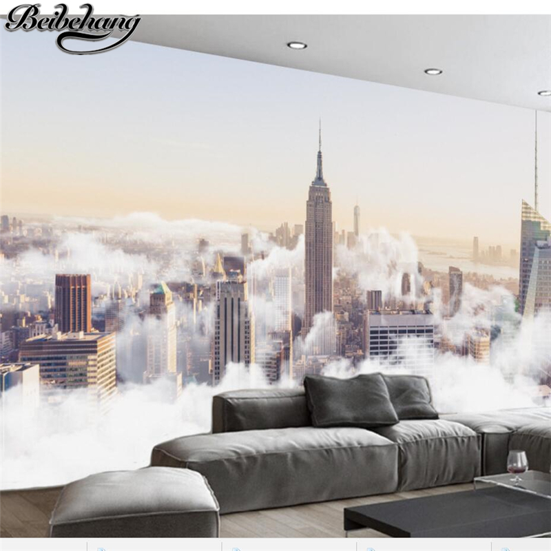 beibehang Custom large fresco 3d photo wallpapers abstract city sea of clouds scenery living room background wallpaper 3d murals custom london red bus city view wallpaper личность ретро кафе гостиная фон 3d обои на рабочий стол обои домашний декор