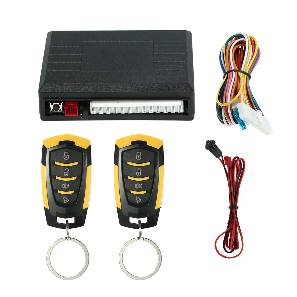 universal car auto remote central kit door lock locking vehicle keyless entry system with remote controllers [ 1000 x 1000 Pixel ]