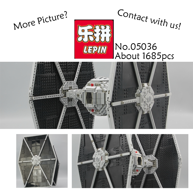 1685pcs Lepin 05036 Star War Series Tie Fighter Building Educational Blocks Bricks Starwars Kid Toys Compatible 75095 2015 high quality spaceship building blocks compatible with lego star war ship fighter scale model bricks toys christmas gift