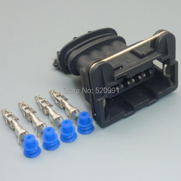 Shhworld Sea 3,5 мм 4 Pin 282192-1 Junior мощность таймер розетка Автомобильный датчик кислорода разъем катушка зажигания штекер - Название цвета: 1set female
