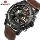 2017 Naviforce Men'S Fashion Sport Horloges Mannen Quartz Analoog Datum Klok Man Lederen Militaire Waterdicht Horloge Relogio Masculino