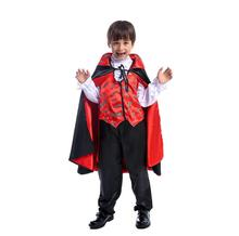 high quality Carnival Party Halloween Kids Children Count Dracula Gothic Vampire Costume Fantasia Prince Cosplay for Boy