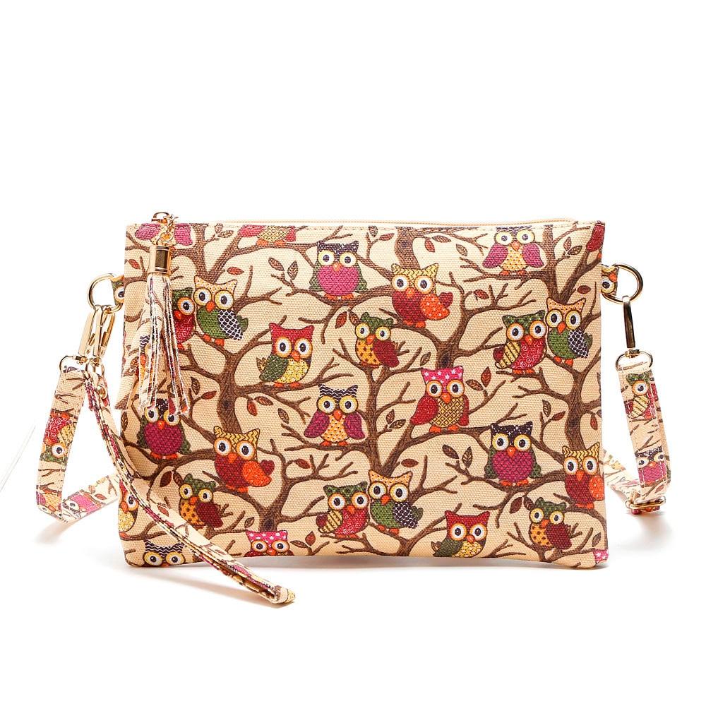 MUQGEW Canvas New Printing Owl Tote Bags women Messenger Bag Shoulder Bag Package 2017 designer handbags high quality Fashion