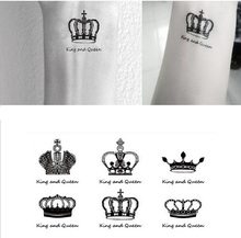 Sex You Up King & Queen Clowns Wrist Finger Tattoos Stickers For Temporary Tattoo #r120
