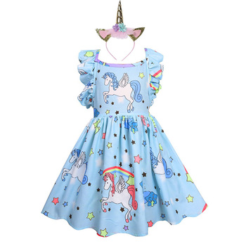 Unicorn Strappy Backless Dress and Headband