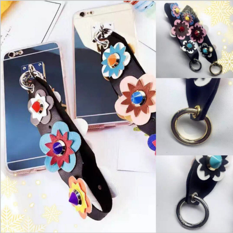 3D Rivet Flower Ring Pendant Soft TPU Case Coque for iPhone 7 Plus 6 6s For samsung note 3 4 5 s5 6 7 edge plus s8 s8 plus