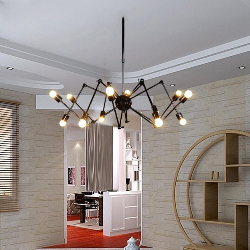 ᗔSINFULL ART Vintage Suspension Araignée Pendentif Lumière Loft ...
