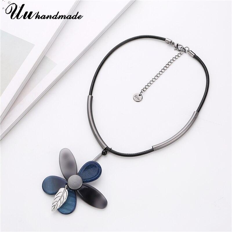 цена на Statement Necklace Flower Pendant Women Colar Choker kolye Steampunk Pingente boho vintage Jewelry feminino chocker Accessories