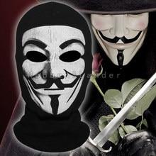 2018 New V per Vendetta DEGLI STATI UNITI Balaclava di Halloween Cosplay  Costume Cappelli Copricapi Costola Tessuti Pieno Viso M.. e12c5d57046a