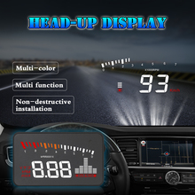 X5 Car HUD Head-Up Display OBD 2 GPS Digital Car Speedometer Alarm Speed Projector Warning Auto HUD OBD2 Display