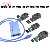 EMMC153 169 EMCP162 189 EMCP221 EMCP529 socket 6 in 1 data recovery tools for android phone eMMC programmer Socket free DHL