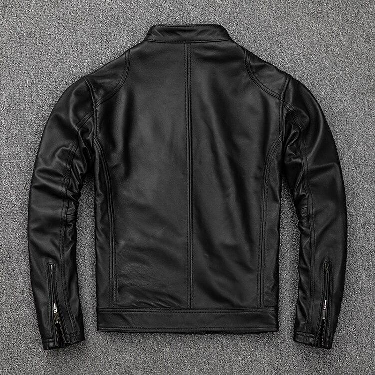 Free shipping.classic casual style,Plus size soft sheepskin Jackets,men genuine Leather jacket.motor biker leather coat,sales