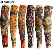 M-теория 6 шт. Размер плеча татуировки рукава рукавов чулки Легкий стиль стиля 3D-стиль Татуировка мальчиков девочек Baby Shower Travel Wearings