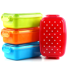 Portable Polka Dot Lunch Box Kids School Food Container Bento Boxs Children Fruit Snack Microwave
