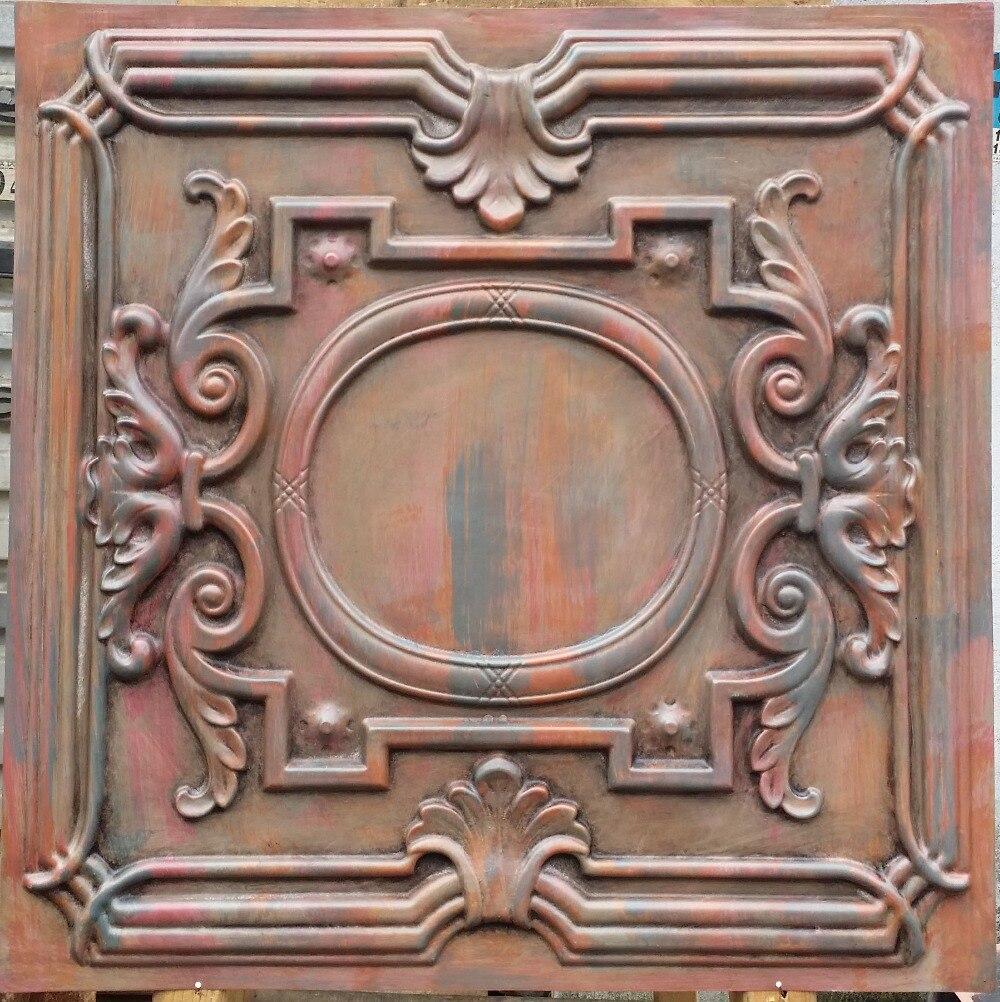 Pl15 Faux Finish Ceiling Tiles Antique Muticoloured Suspended