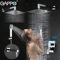 GAPPO In Wall Bathtub Faucet Shower Faucets Set Bathroom Shower Mixer Shower Mixer Tap Stainless Steel