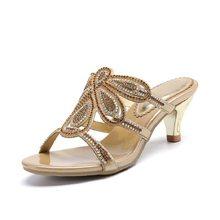 New Luxury Diamond Stiletto High Heels Slippers Online Shopping Peep Toe  Women s Shoes Sale High Quality f5c301c344d6