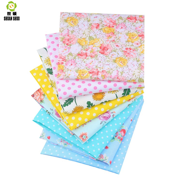 7 PCS 50*50cm//25*25cm Fabric Cotton Floral Sewing Quilting Tissue Cloth DIY New