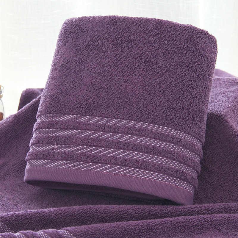 Nieuwe Streep Katoenen Handdoek Badhanddoek van Drie Sets Effen Kleur Dikker Badkamer Handdoeken Set Zachte Comfortabele Unisex Toalhas 140x70