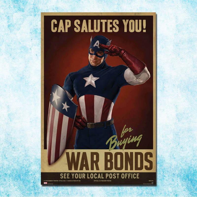 Captain America Hot Movie Art Silk Poster Print 13x20 inches