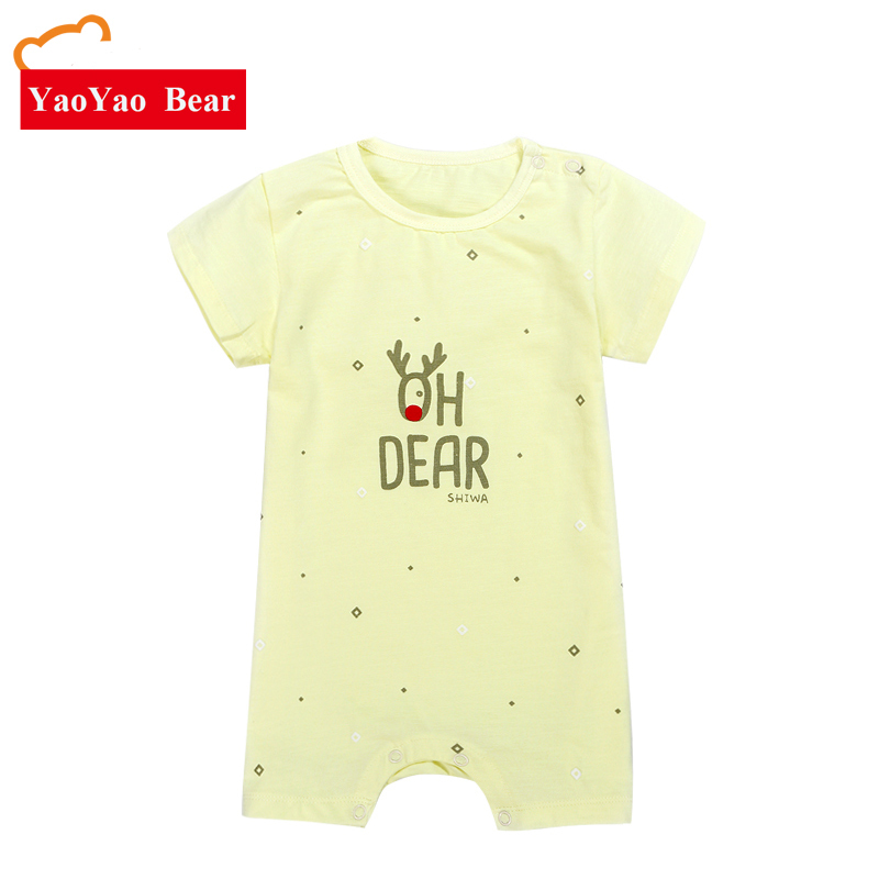 Baby Rompertjes Pasgeboren Jongens Meisjes YAOYAO BEER Zomer Korte - Babykleding