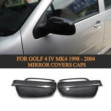 Углеродное волокно автомобиля зеркало заднего вида крышки s для Volkswagen VW Golf 4 IV MK4 1998-2004 боковое зеркало крышка оболочки