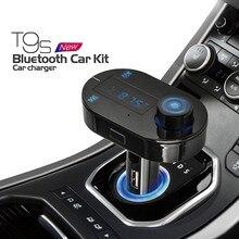 FM Transmisor Inalámbrico de Música Bluetooth Llamadas Manos Libres Inalámbrico Reproductor de MP3 Kit de Coche Cargador USB SD LCD 3 Color Bluetooth coche