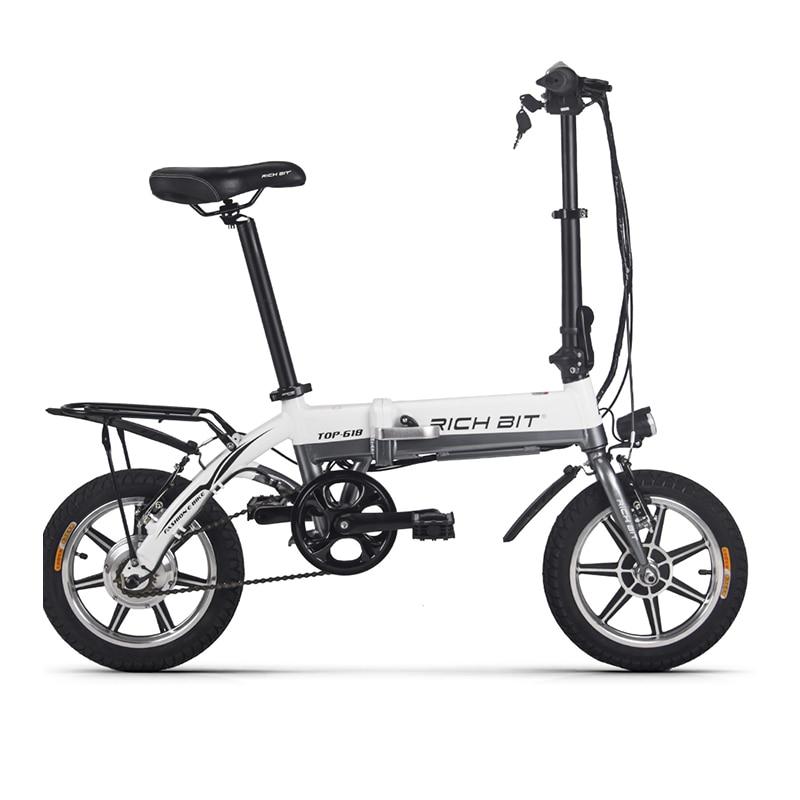 312de7d150fb5 RichBit RT 618 14 pouces vélo électrique pliant 36 V 250 W 10.2Ah batterie  au Lithium vélo électrique pliant VTT électrique dans Vélo électrique de  Sports ...