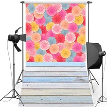 MEHOFOTO Floral New Fabric Flannel Photography Background For Newborn Floor Vinyl Backdrop Children photo studio F1287
